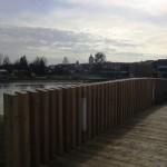 Brücke zum Hotel am See