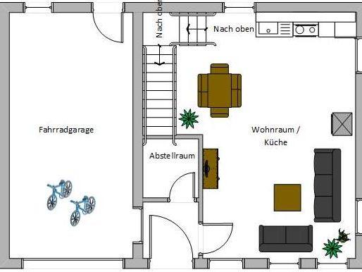 Ferienwohnung Schmied Grundriss Erdgeschoss