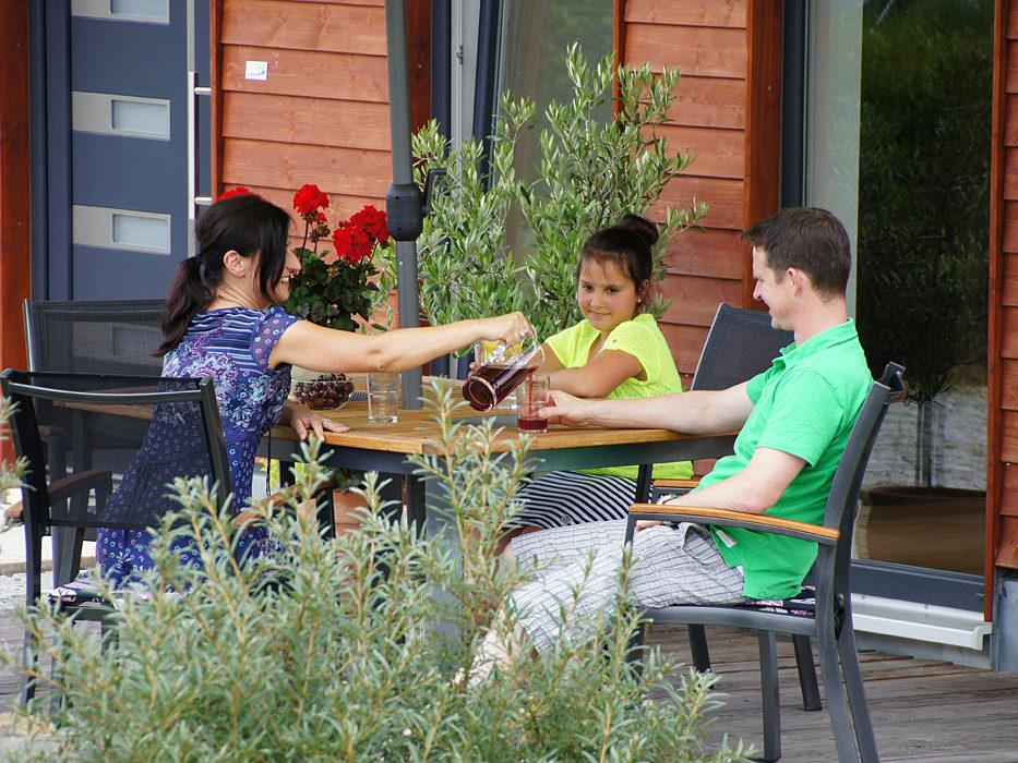 Terrasse Ferienwohnung Schmied