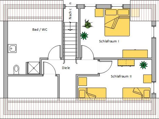 Ferienwohnung Schmied Grundriss Obergeschoss