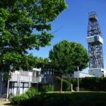 Bohrturm der Tiefenbohrung und GEO-Zentrum