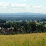 Steinwaldradweg Blick von Fuchsmühl zum Grenzkamm