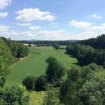 Burgruine Liebenstein Blick zum Ahornberg