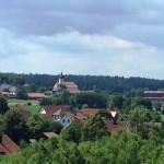 Burgruine Liebenstein Blick nach Liebenstein und Stein