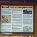 Burgruine Liebenstein Informationstafel