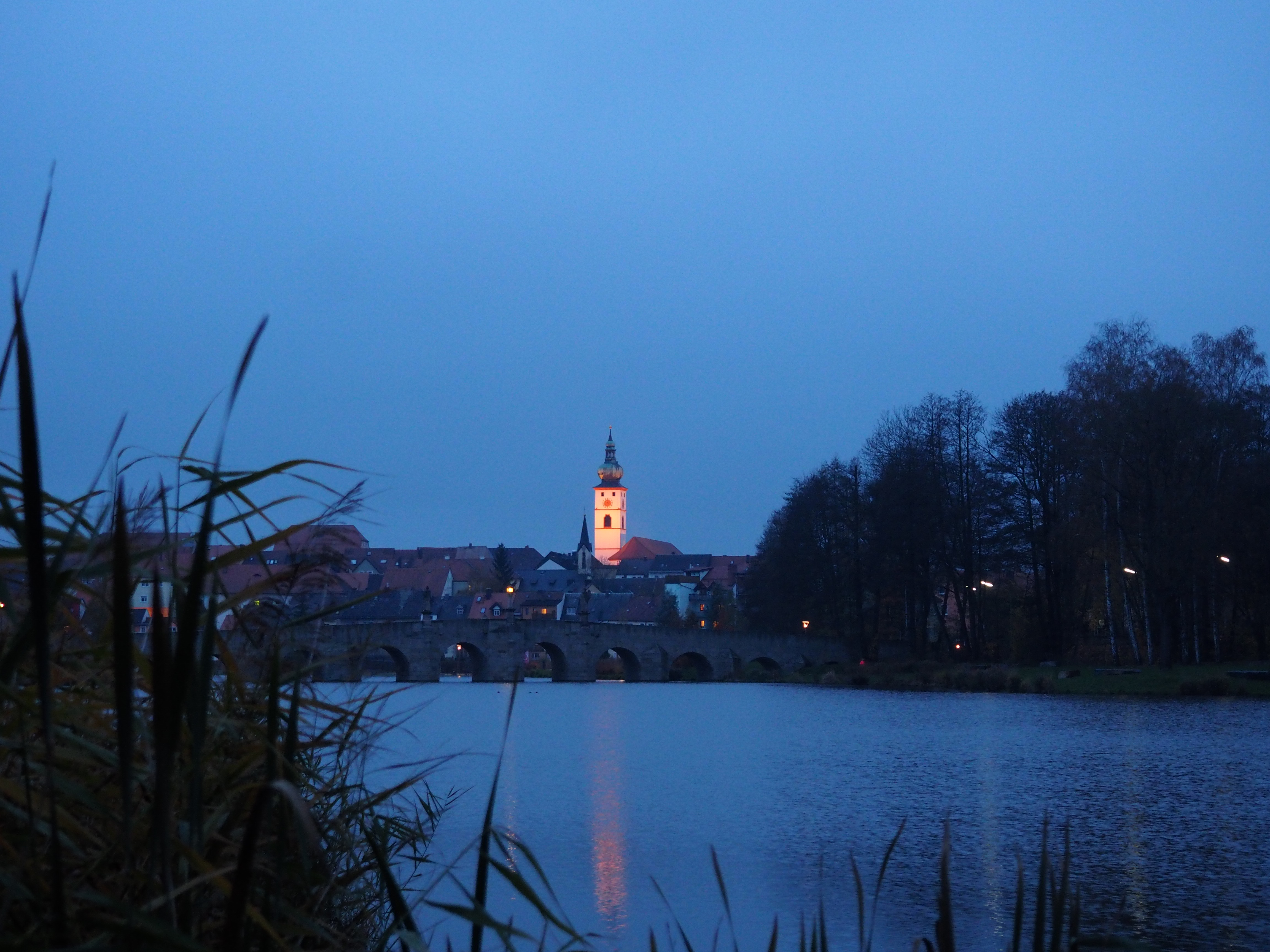 Blaue Stunde im Fischhofpark