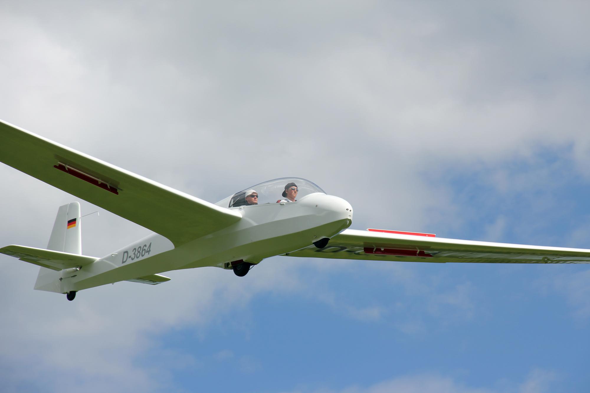 Landeanflug der ASK13