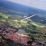 Segelflugzeug über Tirschenreuth