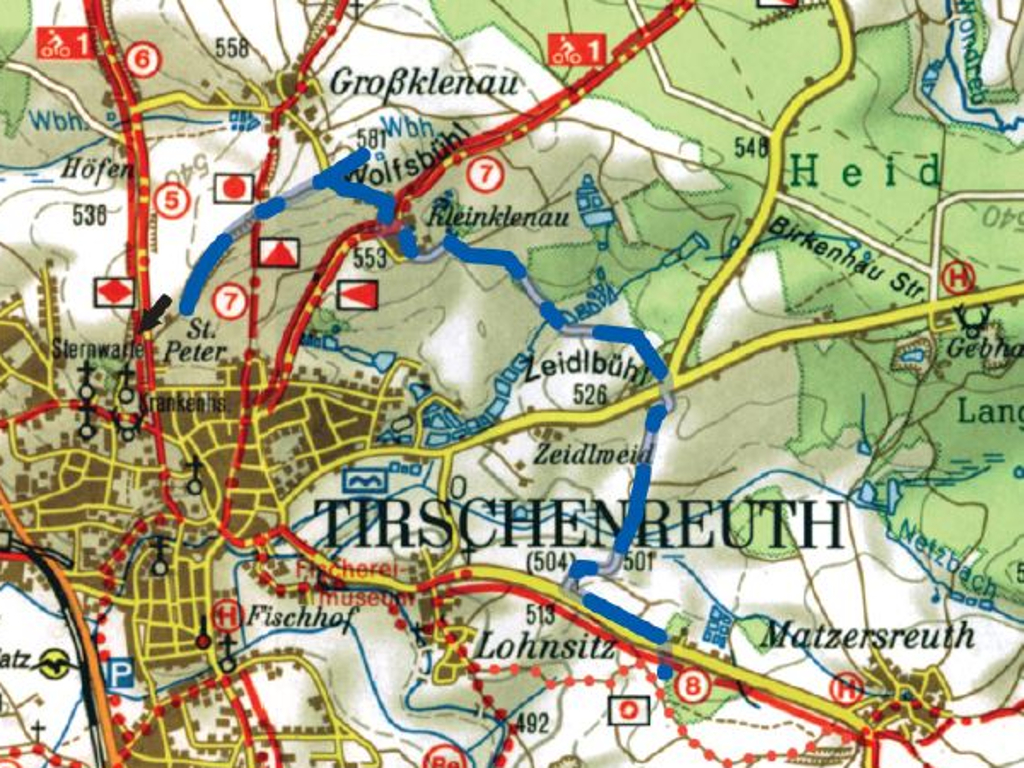 Tirschenreuther Planetenweg Karte